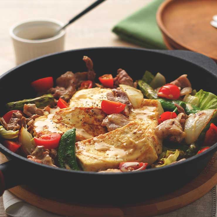 レシピ 春野菜と豆腐ステーキのおかずサラダ